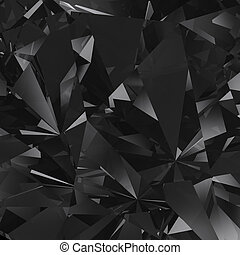 faceta, cristal, fondo negro