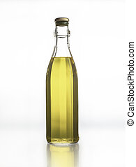 Faceted bottle with olive oil