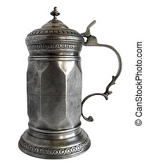 Faceted Pewter tankard