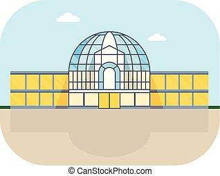 fachada, centro comercial, redondo