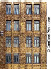 fachada, de, um, antigas, casa