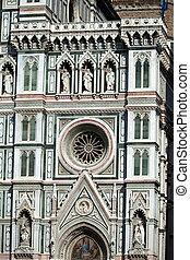 fachada, del, santa, fiore, catedral, florence-the, maria
