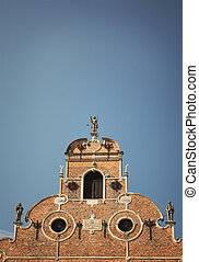 fachada, detalhe, igreja