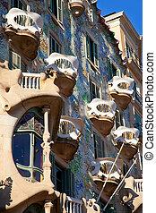 fachada,  Gaudi,  batllo,  Casa,  Barcelona