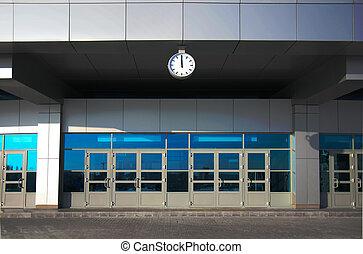 fachada, predios, escritório