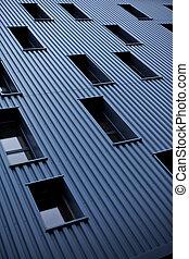 fachada, predios, modernos