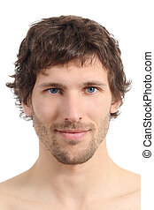facial, cicatrizarse, de, un, atractivo, cara del hombre