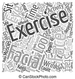 Facial Exercise text background wordcloud concept
