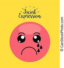 facial expression design, vector illustration eps10 graphic