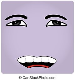 Facial Expression - Purple background with an abstract...