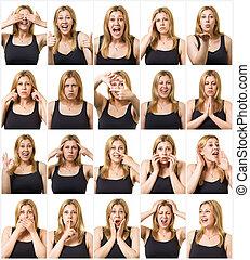 Facial expressions set
