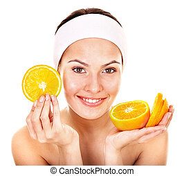 facial, fruit, naturel, masques, fait maison