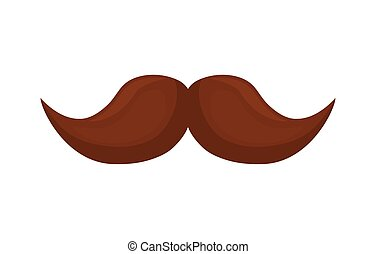 facial hair mustache on white background