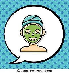 Facial mask doodle