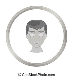 Facial mask icon in monochrome style isolated on white background. Skin care symbol stock vector illustration.