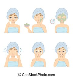 Facial mask set.