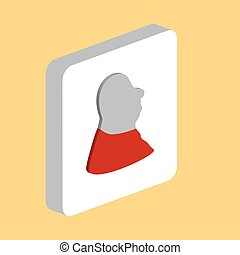 Facial Profile computer symbol for your business project
