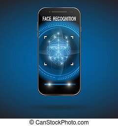 Facial recognition concept.