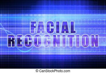 Facial Recognition on a Tech Business Chart Art