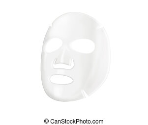 Facial sheet mask over white background.