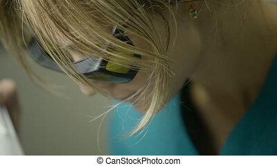 Facial skin care in a beauty salon