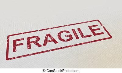 facile, timbre, paper., fragile, caoutchouc, mat, mettre,...
