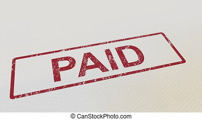 facile, timbre, paper., payé, caoutchouc, mat, mettre, fond,...