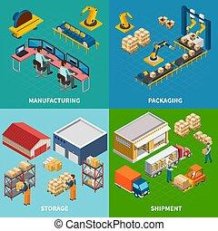 facilità industriali, disegno, concetto