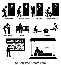 faciliteiten, voorzieningen, publiek