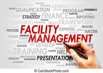 Facility Management word cloud, business concept