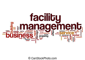 Facility management word cloud