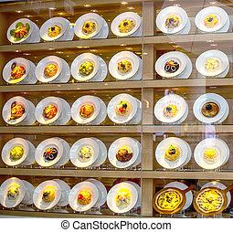 fack food - food show sample in Shop shelves