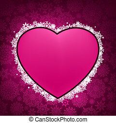 facon, 8, ramme, heart., eps
