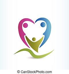 facon, familie, logo, hjerte