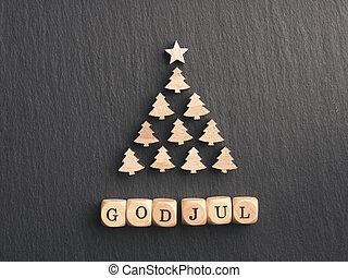 facon, merry, nordisk, jul, træ, jul, gud
