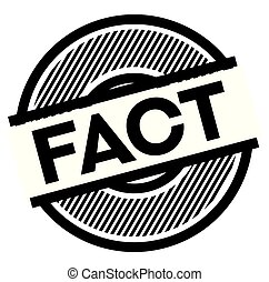 fact black stamp on white background , sign, label
