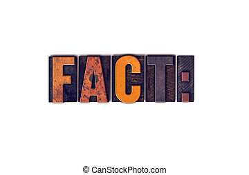 Fact Concept Isolated Letterpress Type