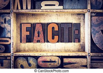 Fact Concept Letterpress Type