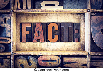Fact Concept Letterpress Type