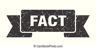 fact grunge ribbon. fact sign. fact banner