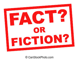 FACT OR FICTION? red Rubber Stamp over a white background.