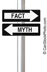 Modified one way signs on Facts and Myths