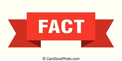 fact ribbon. fact isolated sign. fact banner