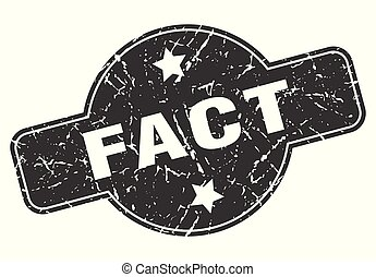 fact round grunge isolated stamp