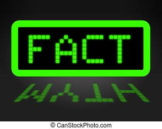 Fact Vs Myth Words Describe Truthful Reality Versus Deceit...