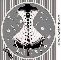 factice, métier, corset