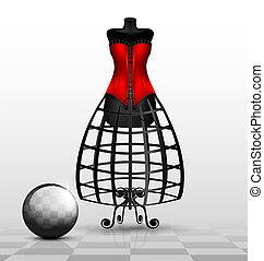 factice, rouges, corset
