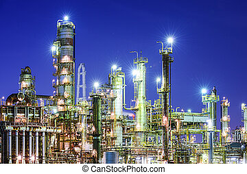 Factories - Chemical plants in Yokkaichi, Japan.