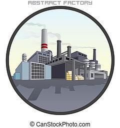 factory., abstratos, ilustração