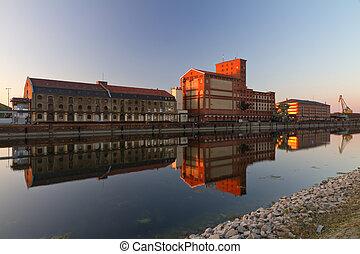 Factory at Rheinhafen, Karlsruhe, Germany